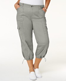 Style & Co Plus Size Capri Cargo Pants, Created for Macy's