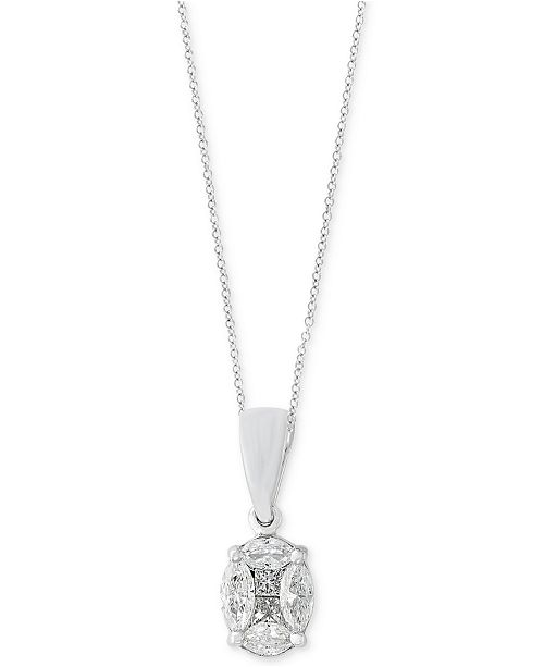EFFY Collection Classique by EFFY® Diamond Pendant Necklace (1/2 ct. t.w.) in 14k White Gold