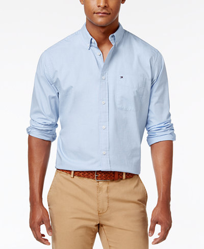 Tommy Hilfiger Men's Capote Shirt - Casual Button-Down Shirts ...
