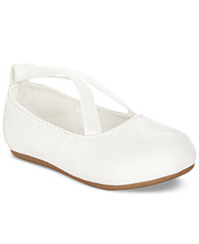 First Impressions Criss-Cross Ballet Flats, Baby Girls (2-5), Created for Macy's