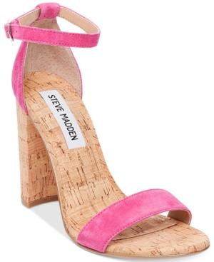 Steve Madden Women's Carrson Two-Piece Cork-Block-Heel Sanda