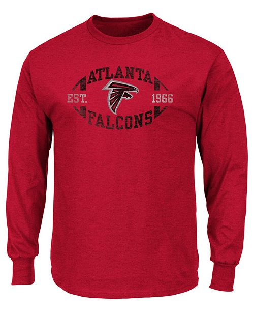 Profile Men's Atlanta Falcons Print Logo Long Sleeve Big & Tall T-Shirt