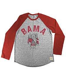 Retro Brand Alabama Crimson Tide Raglan Long Sleeve T-Shirt, Big Boys (8-20)