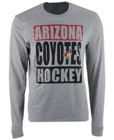 '47 Brand Men's Arizona Coyotes Stacked Club Long Sleeve T-Shirt