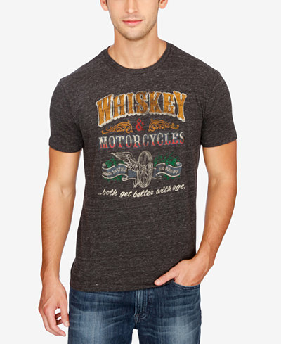Lucky Brand Men's Motorcycles Graphic-Print Cotton T-Shirt - T ...