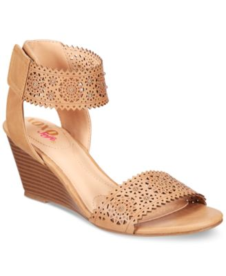Image of XOXO Sallie Two-Piece Perforated Sandals
