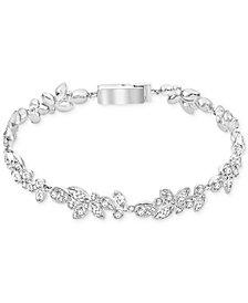 Swarovski Silver-Tone Multi-Crystal Bracelet