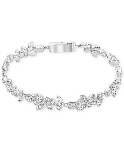 Swarovski Silver Tone Multi Crystal Bracelet Jewelry