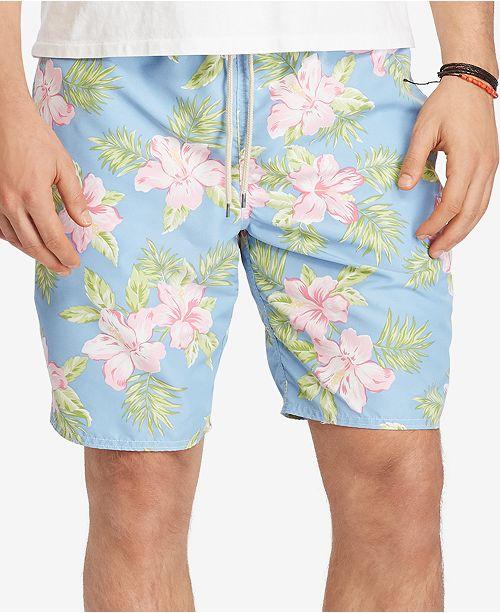 1bd27dfd71d86 ... Polo Ralph Lauren Men's Big & Tall Floral-Print Traveler Swim Trunks ...