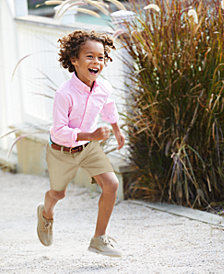 Ralph Lauren Blake Oxford Shirt & Prospect Flat Front Shorts, Toddler, Little, & Big Boys
