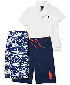 Ralph Lauren Pique Polo & Board Shorts, Toddler, Little Boys & Big Boys