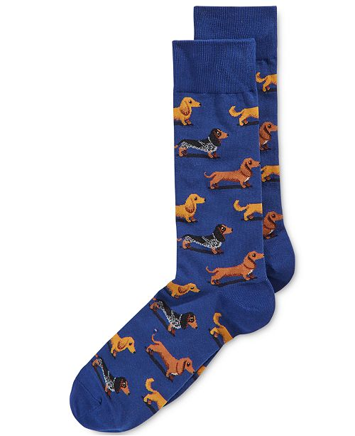 Hot Sox Men's Socks, Dachshunds Crew