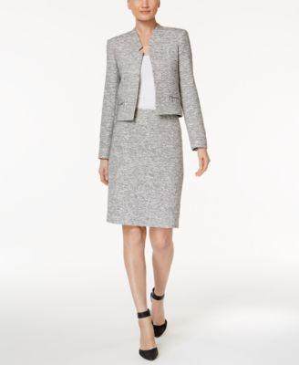 Calvin Klein Tweed Pencil Skirt - Women - Macy's