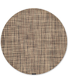 Chilewich Basketweave Woven Vinyl Placemat, Round