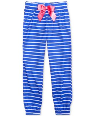 Image of Max & Olivia Striped Sleep Pants, Little Girls (2-6X), Big Girls (7-16)) , Created for Macy's