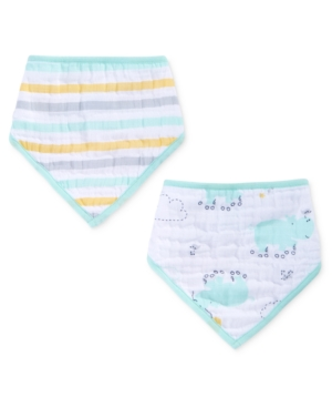 aden by aden  anais 2Pk Cotton Skating HippoPrint Bandana Bibs Baby Boys  Girls (024 months)