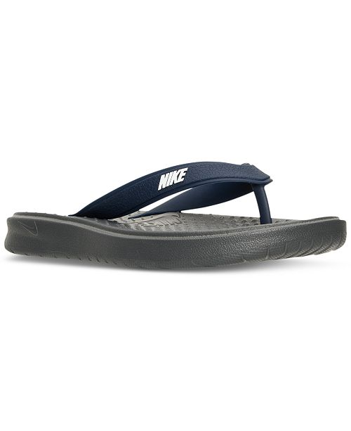 82c39cc3cec214 Nike Men s Solay Thong Sandals from Finish Line   Reviews - Finish ...
