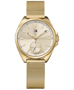 Tommy Hilfiger Women's Casual Sport Gold-Tone Mesh Bracelet