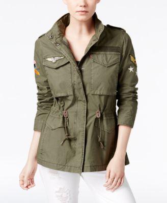 Utility jacket women's khaki