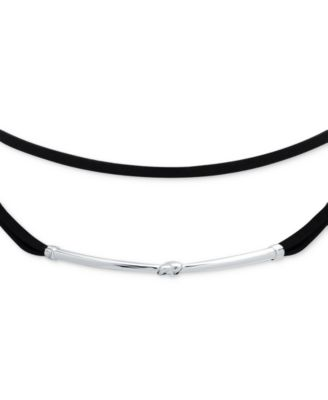 Image of Anne Klein Hardware and Velvet Choker Necklace