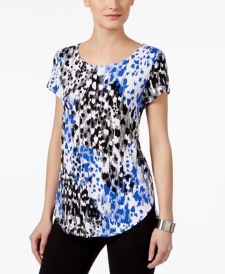 Image of Alfani Printed T-Shirt, Only at Macy's