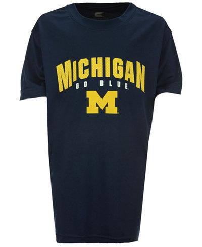 Colosseum Michigan Wolverines Mesh Poly T-Shirt, Big Boys (8-20)
