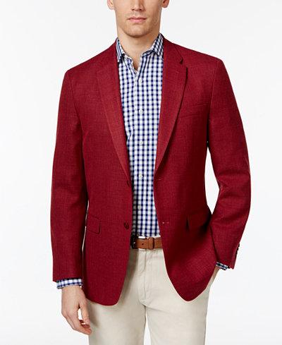 Tommy Hilfiger Men's Slim-Fit Soft Textured Sport Coat - Blazers ...