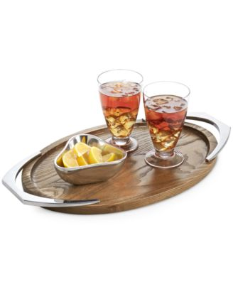 Cabo Collection Handled Oval Tray