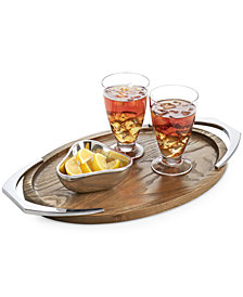 Nambé Cabo Collection Handled Oval Tray