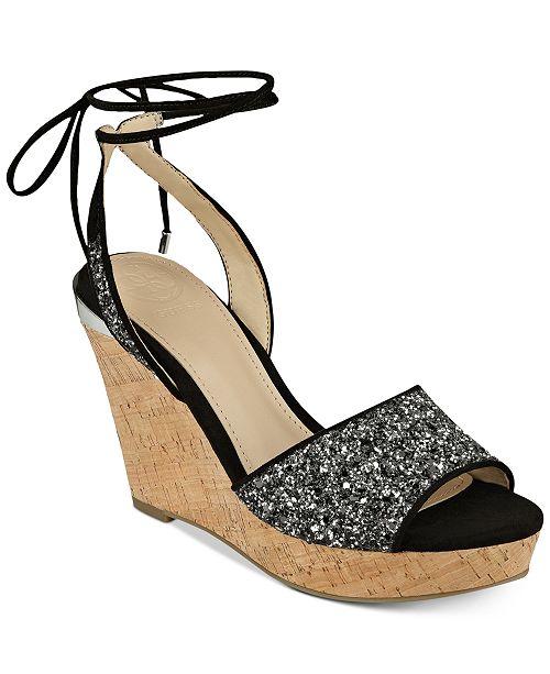 606eca091bc GUESS Women s Edinna Wedge Sandals   Reviews - Sandals   Flip Flops ...
