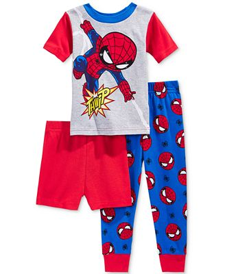 3-Pc. Spider-Man Cotton Pajama Set, Toddler Boys (2T-5T) - Pajamas ...