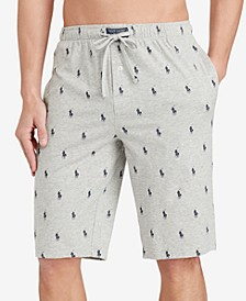 Men's Cotton Logo Pajama Shorts