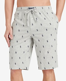 Polo Ralph Lauren Men's Cotton Logo Pajama Shorts