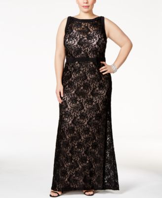 Nightway Sequined Lace A-Line Gown