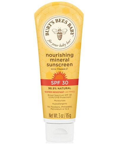 Burt's Bees Baby Nourishing Mineral Sunscreen Lotion SPF 30, 3 oz.