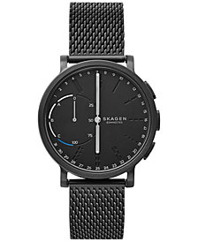 Skagen Connected Hagen Black Ion-Plated Stainless Steel Bracelet Hybrid Smart Watch 42mm SKT1109