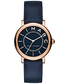 Marc Jacobs Women's Roxy Navy Leather Strap Watch 28mm