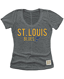 Retro Brand Women's St. Louis Blues Nubby Scoop T-Shirt