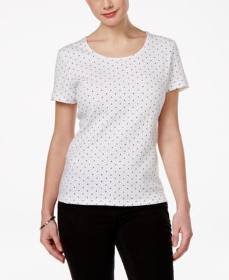Image of Karen Scott Dot-Print T-Shirt, Only at Macy's