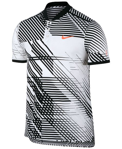 63593202633c4 Nike Men s Advantage Dri-FIT Roger Federer Printed Tennis Top ...