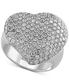 Pavé Classica by EFFY® Diamond Heart Ring (2 ct. t.w.) in 14k White Gold