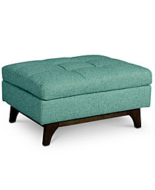 Nari Fabric Tufted Ottoman, Created for Macy's
