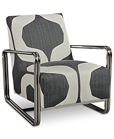 Kolby Printed Accent Chair, Created for Macy's