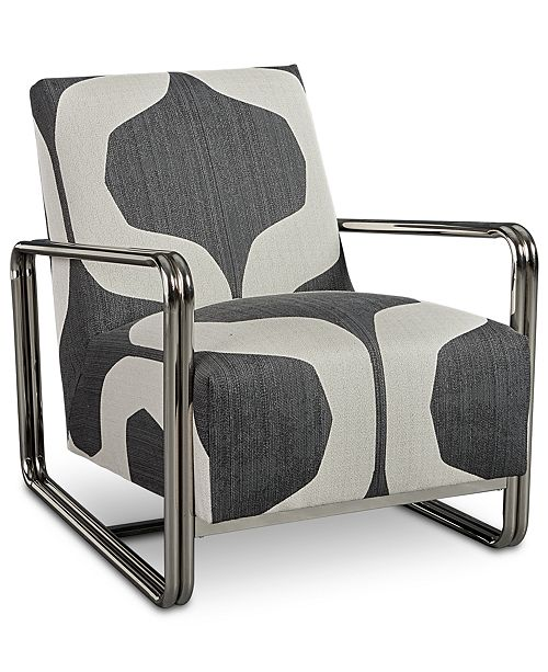 Furniture Kolby Printed Accent Chair Created For Macys Reviews