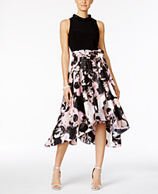 SL Fashions Embellished High-Low Dress