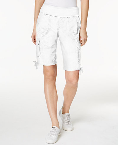 Calvin Klein Performance Cotton Pull-On Bermuda Cargo Shorts