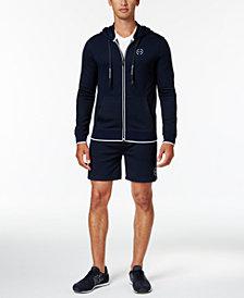 Armani Exchange Men's Logo Full-Zip Hoodie & Relaxed-Fit Drawstring Sweatshorts