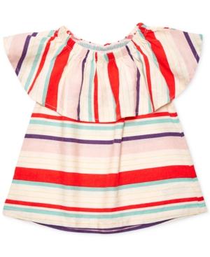 Margherita Kids by Margherita Missoni OffTheShoulder Ruffle Shirt Toddler Girls (2T5T)