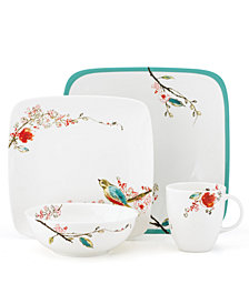 Lenox Simply Fine Dinnerware, Chirp Square 4 Piece Place Setting