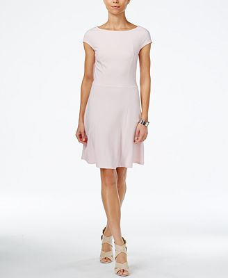 Armani Exchange Boat-Neck A-Line Dress, Created for Macy's